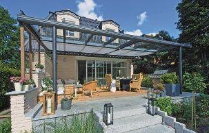 veranda in alluminio autoportante