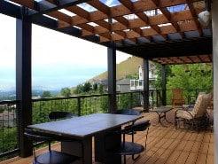 veranda in legno aperta