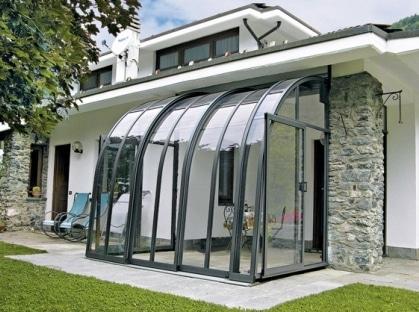 veranda vetro alluminio