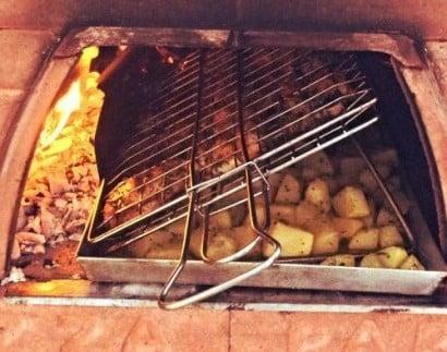barbecue a legna fisso