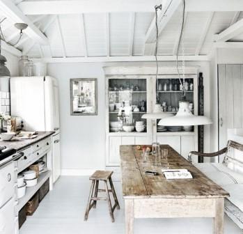 cucina bianca shabby chic