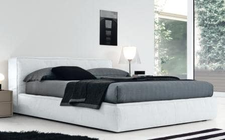 letto king size bianco