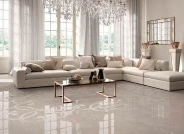 pavimento in gres porcellanato effetto marmo lucido