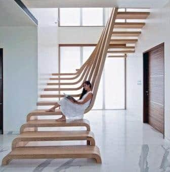 scala in legno prefabbricata