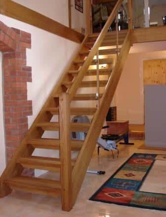 scala interna in legno di rovere