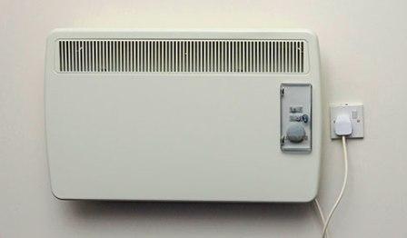 stufa elettrica da parete