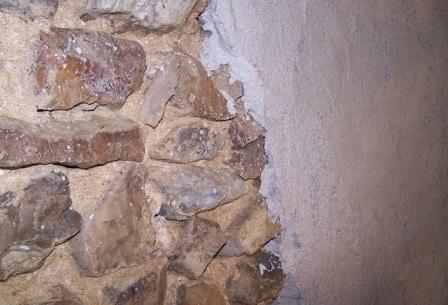 intonaco su di una parete esterna