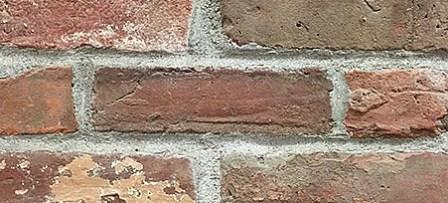 parete in mattoni pieni faccia a vista