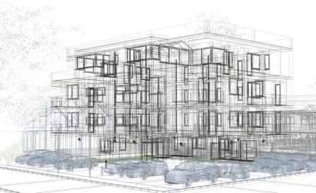 Un progetto architettonico per la cui realizzazione sono necessarie autorizzazioni edilizie.