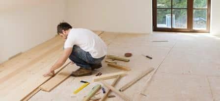 rifacimento del pavimento di una prima casa