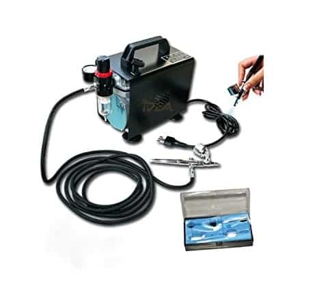 Timbertech/ABPST06/Kit aerografo e compressore a pistone