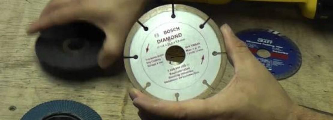 Un disco diamantato per ceramica.