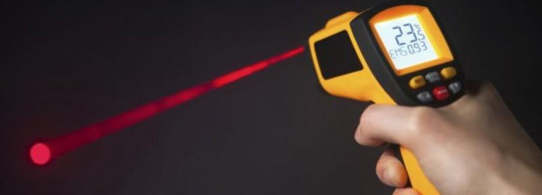 Una pistola termica laser