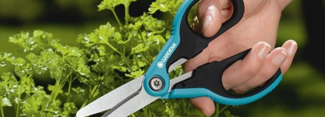 Delle forbici da giardino della Gardena.