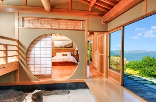 Una casa con interni Zen.
