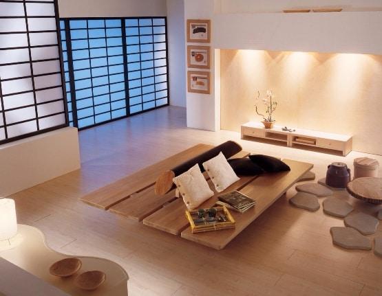 Un soggiorno in stile zen.