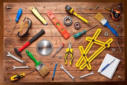 Attrezzi da lavoro per artigiano