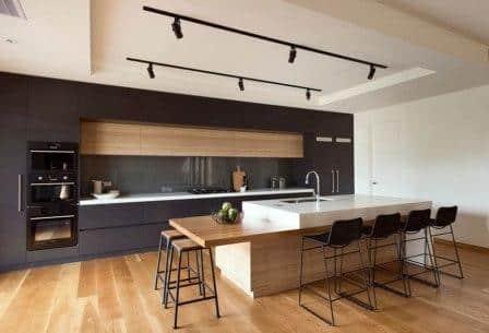 Una cucina in stile moderno.