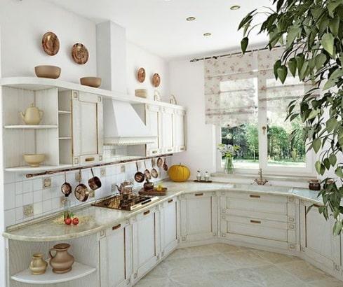Una cucina in stile provenzale.