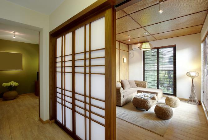 Un divisorio in stile giapponese.