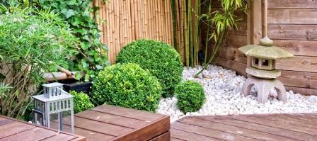 Un giardino in stile giapponese.