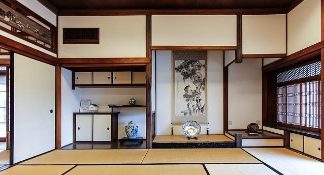 Dei tipici interni in stile giapponese.