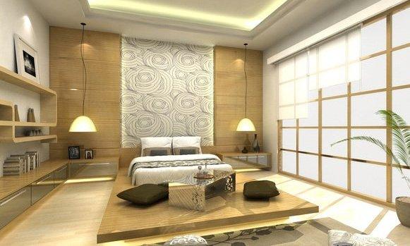 Un soggiorno in puro stile giapponese.