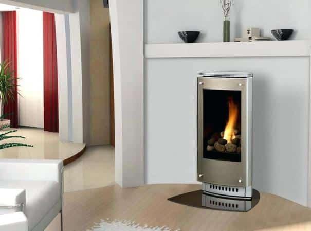 Una stufa a metano dal design moderno.