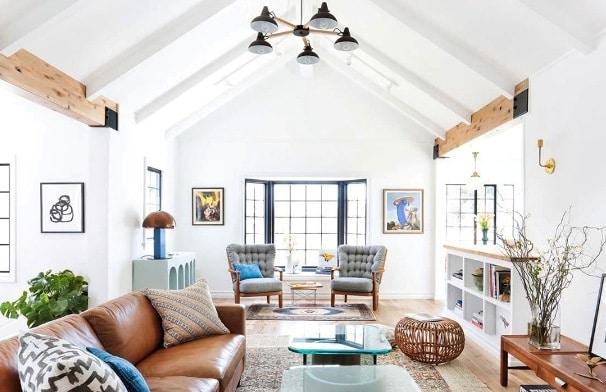 gli interni di una casa in perfetto stile nordico.