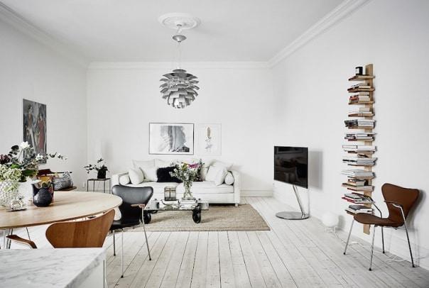un salotto in stile nordico.