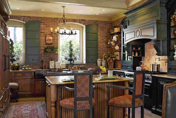 Una cucina in stile country.