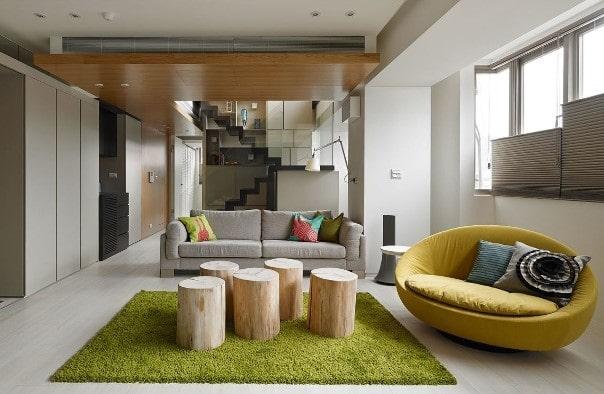 Un soggiorno in stile minimal.