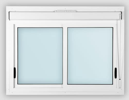 Una tipica finestra scorrevole in PVC.