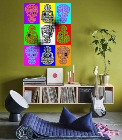 Un soggiorno in stile pop art.