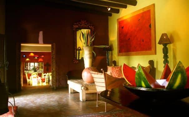 Una casa in stile messicano.