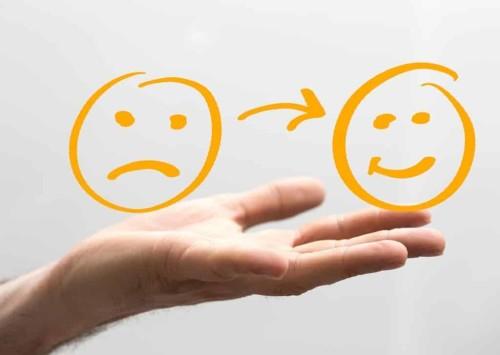 Risposta del cliente positiva o negativa
