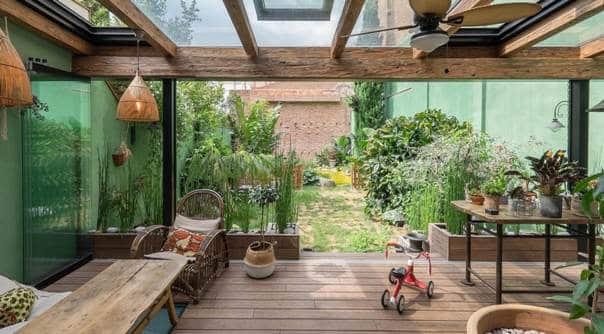 Una veranda realizzata grazie al Piano Casa 2019.