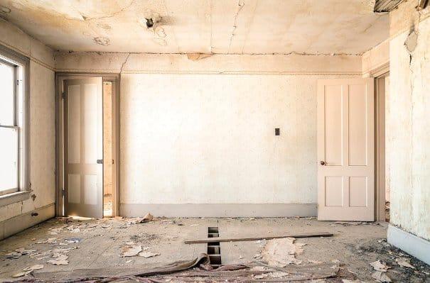 Una casa da ristrutturare.