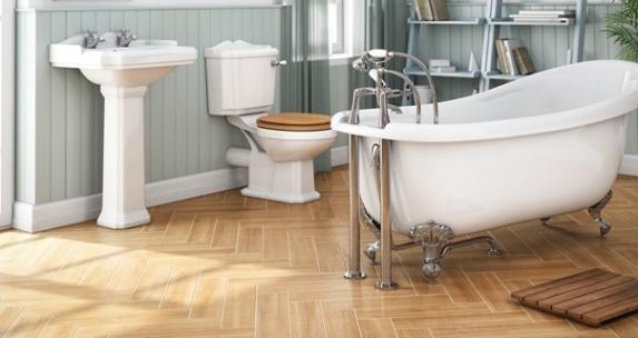 Una vasca freestanding in stile vintage.