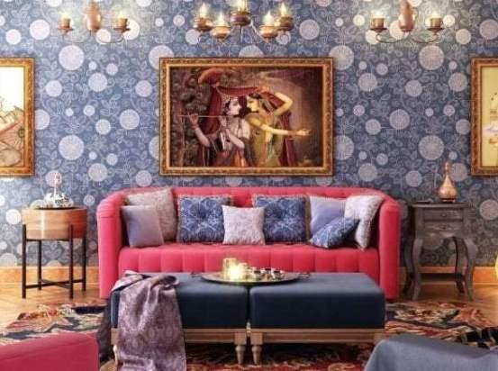 Un salotto in stile indiano.