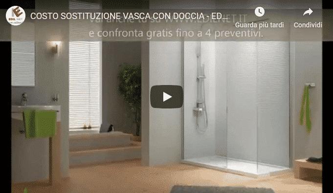 Video Edilnet Sostituzione vasca con doccia