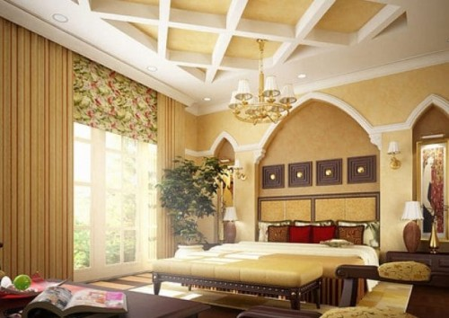 Gli interni di una casa in stile arabo.