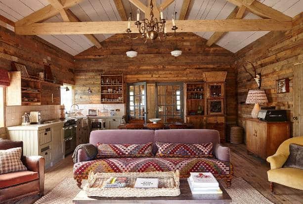 Una casa in stile country chic.