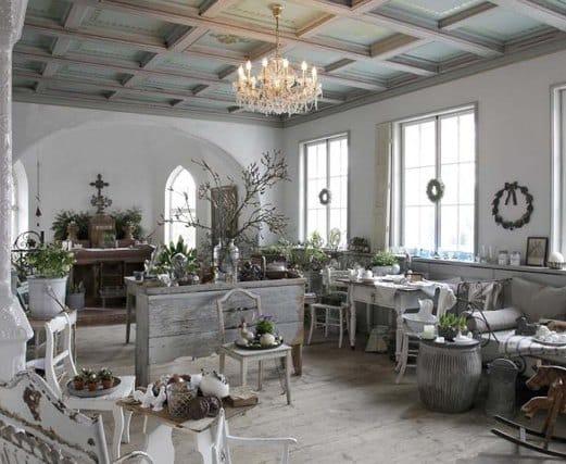 Un soggiorno in stile country chic.