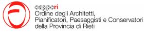 Logo Ordine degli Architetti, Pianificatori, Paesaggisti e Conservatori della Provincia di Rieti