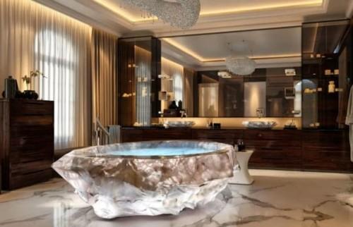 La vasca da bagno Baldi realizzata in cristallo di rocca