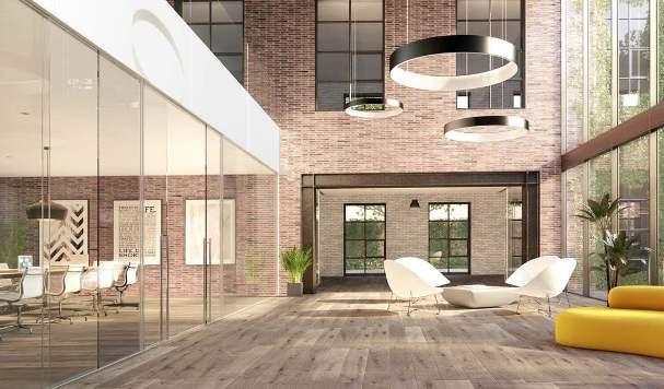 Il render architettonico per la ristrutturazione degli interni.