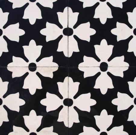 cementine con disegni floreali e geometrici