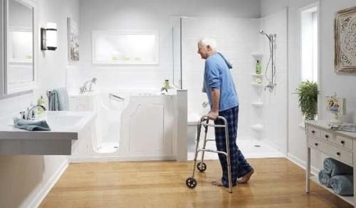 Ristrutturazione del bagno effettuata su misura per anziano