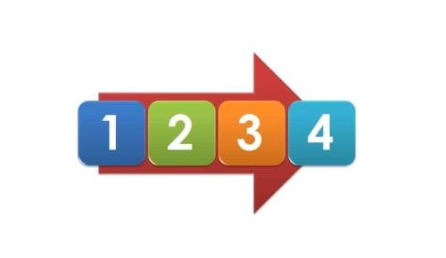 Immagine di 4 fasi (1-2-3-4)